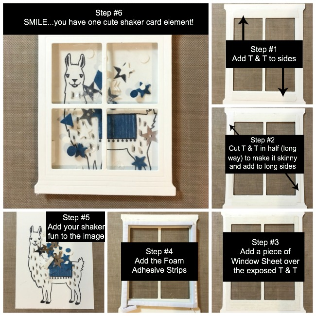 Shaker Card How to's, Susan Itell-simplestampin