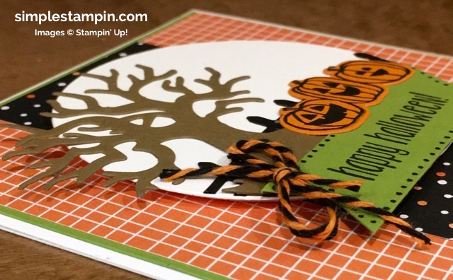 Stampin' Up! Clean and Simple Halloween Card, Spooky Fun Bundle