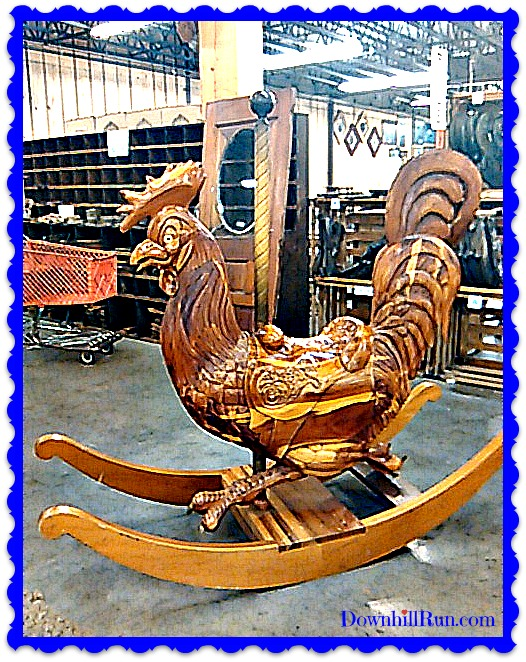 Wordless Wednesday rooster rocker