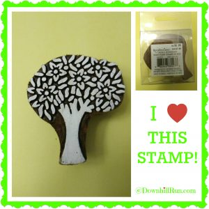 tree stamp collage