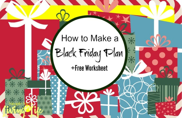How to Make a Black Friday Plan +printable