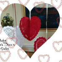 How to Make Valentine's Decor With Paper Doilies
