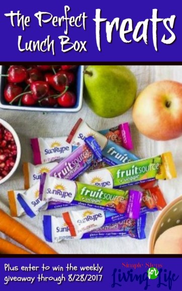 Need a healthy snack or lunch box - SunRype products are great!