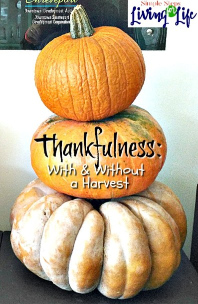 How to have thankfulness in the good times and the bad.