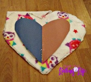 This no sew fleece valentine pillow gift is super easy to make and doesn't cost much.