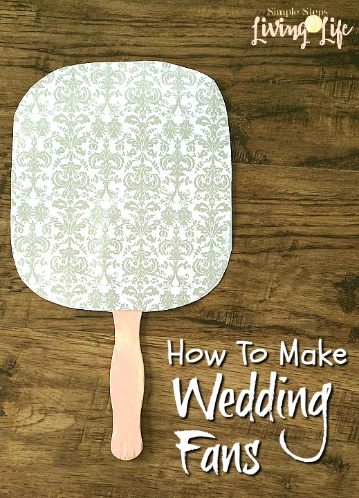 How to make wedding fans