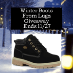 Winter Boots From Lugz Giveaway Ends 11/27