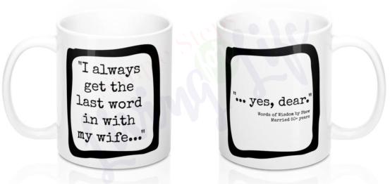 UpperHalfLaughs coffee cup