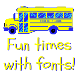 fun with free fonts