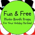 Fun Free Photo Booth Props For Your Holiday Parties!