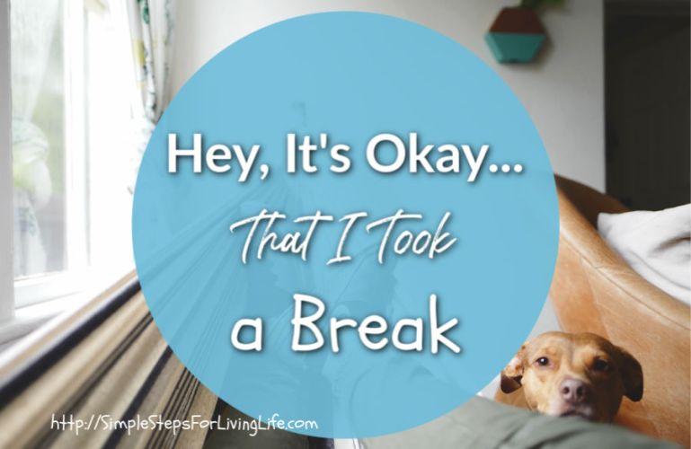 Hey, It's Okay… That I took a break