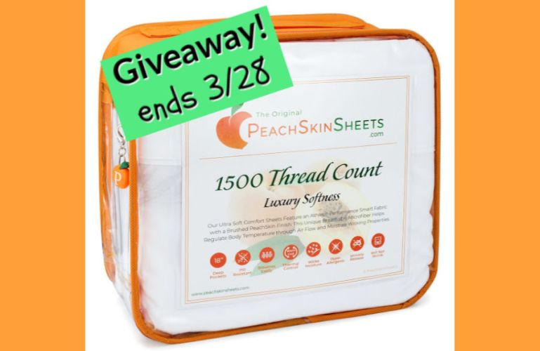 Welcome to the PeachSkinSheets.com Best. Sleep. Ever. Spring Giveaway! ENDS 3/28