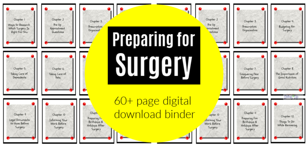 preparing for surgery binder