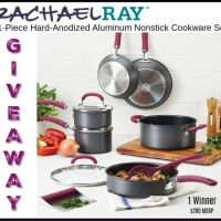 Rachael Ray 11-Piece Hard-Anodized Aluminum Nonstick Cookware Set Giveaway ends 4/5