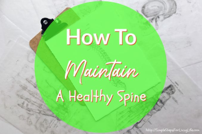 how to maintain a healthy spine