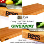 "John Boos & Co. Cherry 1-½"" Thick R-Board Cutting Board Giveaway ends 5/14"