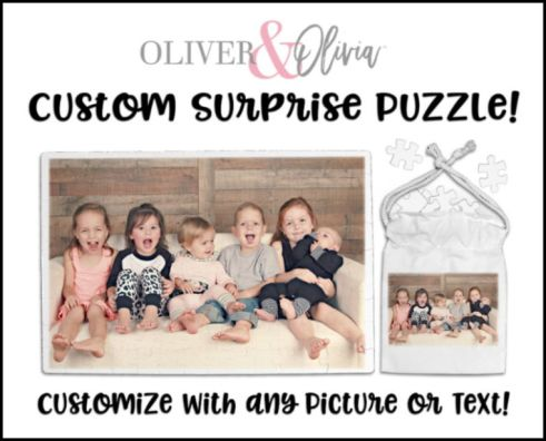 Oliver and Olivia customized puzzle