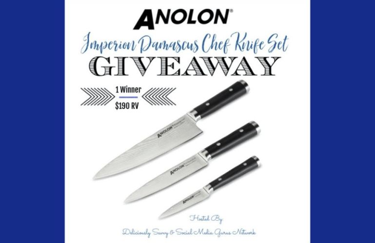 Anolon Imperion Damascus Chef Knife Set Giveaway