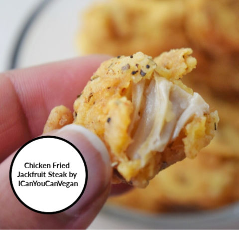 Chicken Fried Jackfruit steak icanyoucanvegan