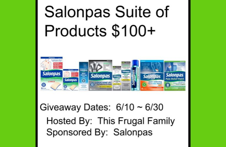 Salonpas Suite of Products (ARV $100+)  Giveaway Ends 6/30