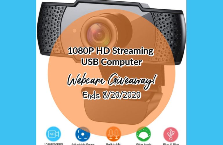 1080P HD Streaming USB Computer Webcam Giveaway! Ends 8/20/2020
