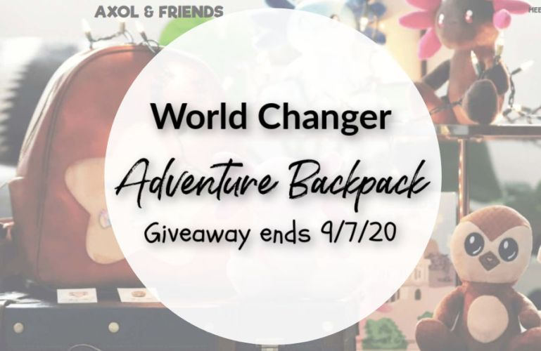 World Changer Adventure Backpack Giveaway ends 9/7