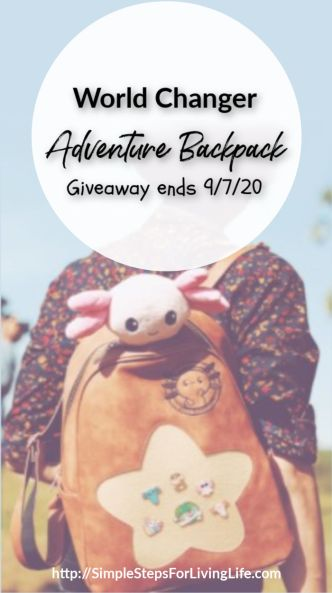 World Changer Adventure Backpack Giveaway