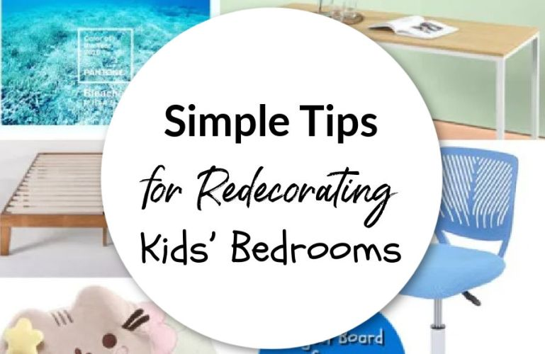 Simple Tips For Redecorating Kids' Bedrooms