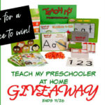 Teach My Preschooler at Home Giveaway ends 11/26/2020