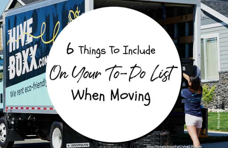 6 Things To Include On Your To-Do List When Moving