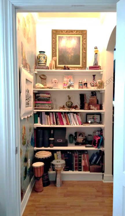 Easy to make built in shelves