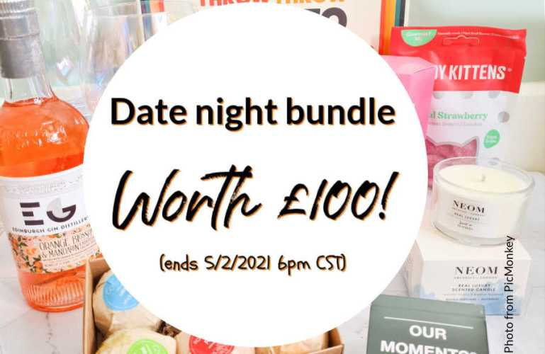 Date night bundle worth £100! Gin, games, pamper, homeware! (ends 5/2/2021 6pm CST)