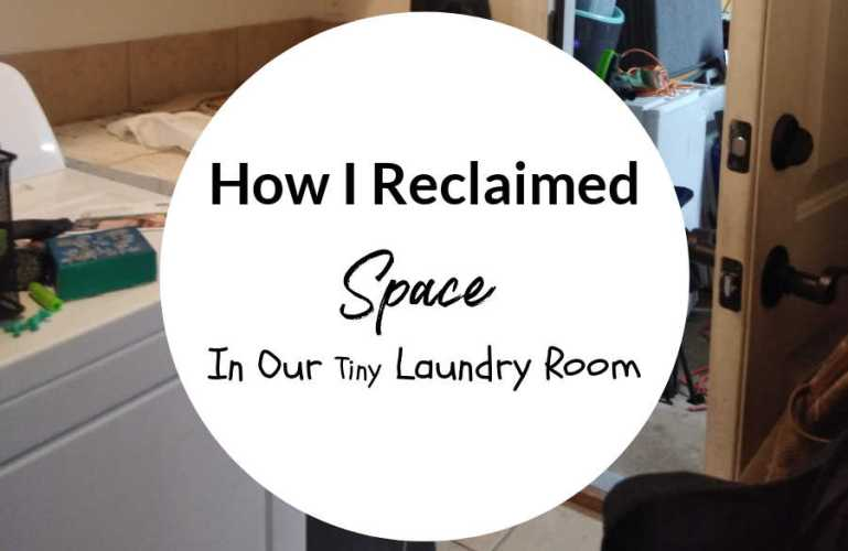 How To Reclaim Space In A Tiny Laundry Room
