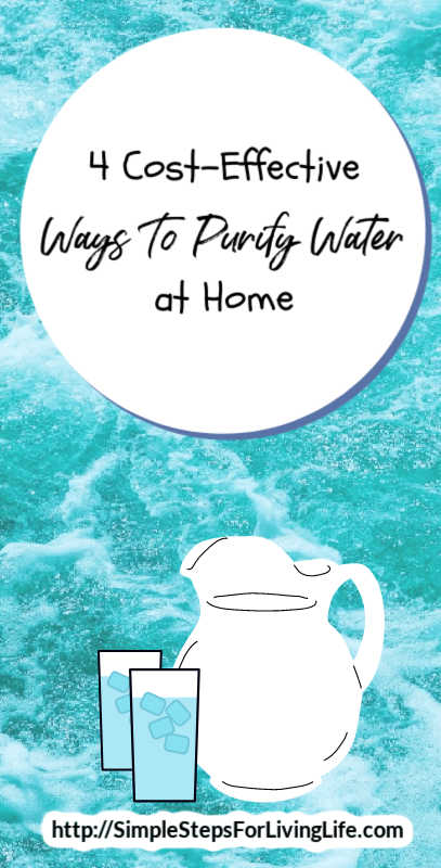 Under a water boil advisory or live in a town where your water tastes like dirt? Try out these 4 cost-effective ways to purify water at home.