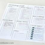 Free Printable Grocery List