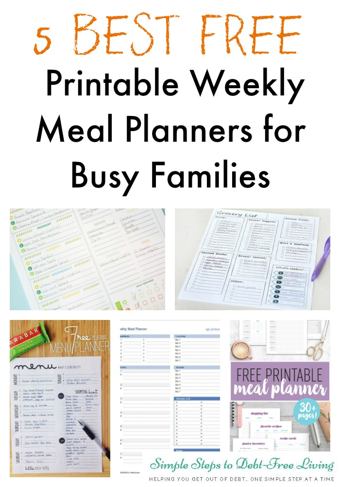 simple weekly meal planner