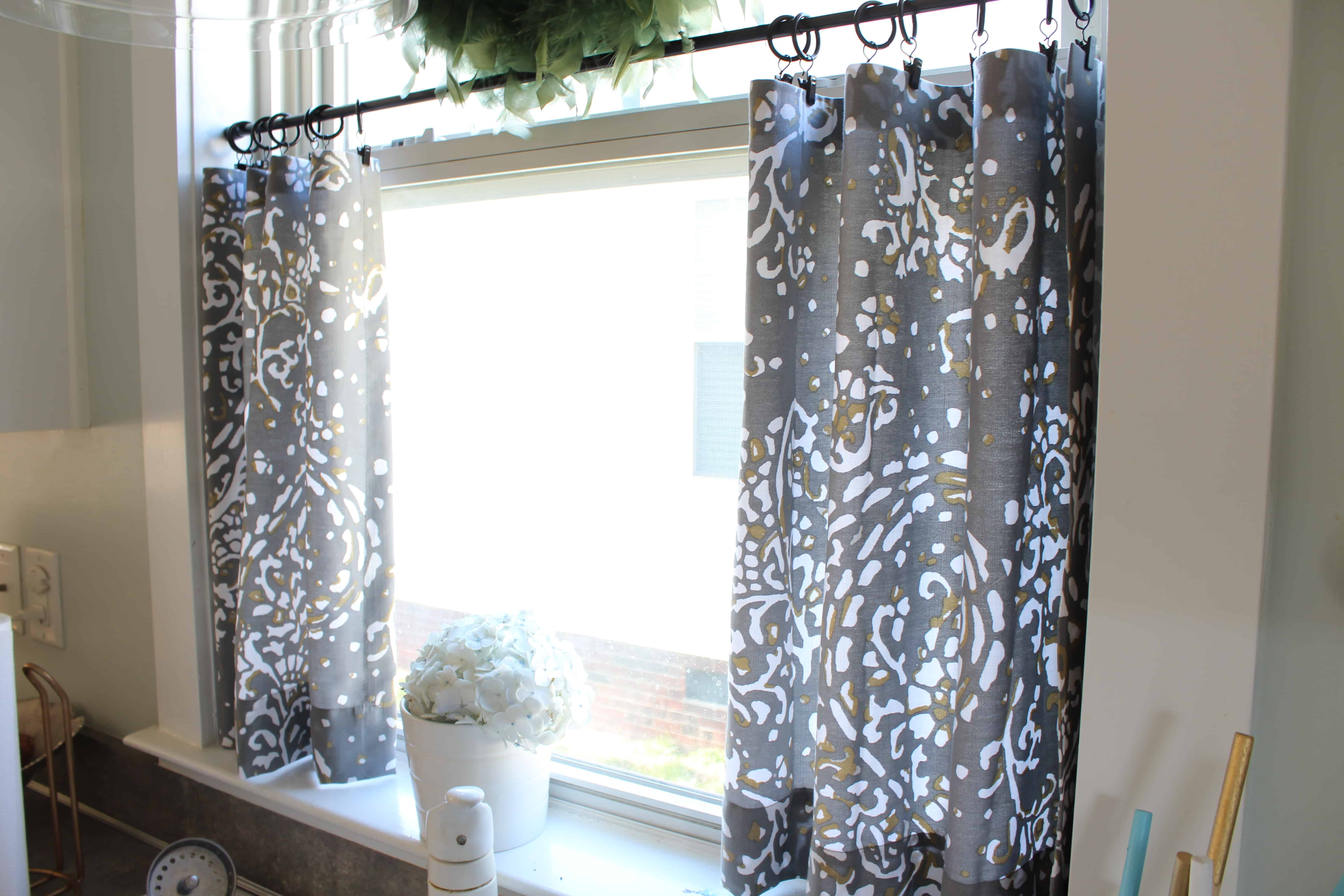 No Sew Cafe Curtains Day 22 Simple Stylings