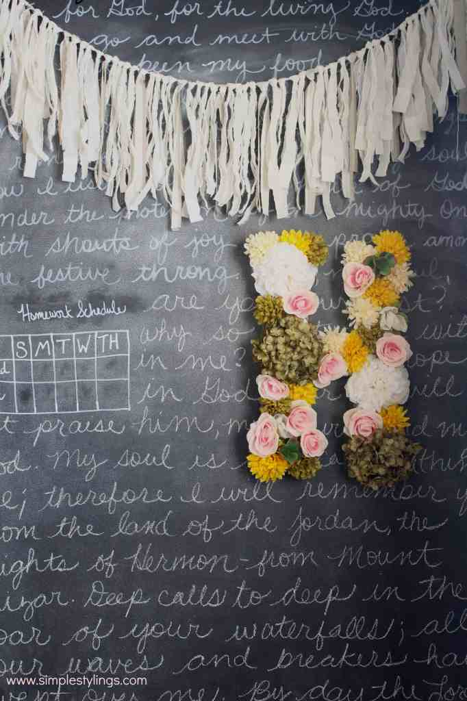 diy faux flower letter