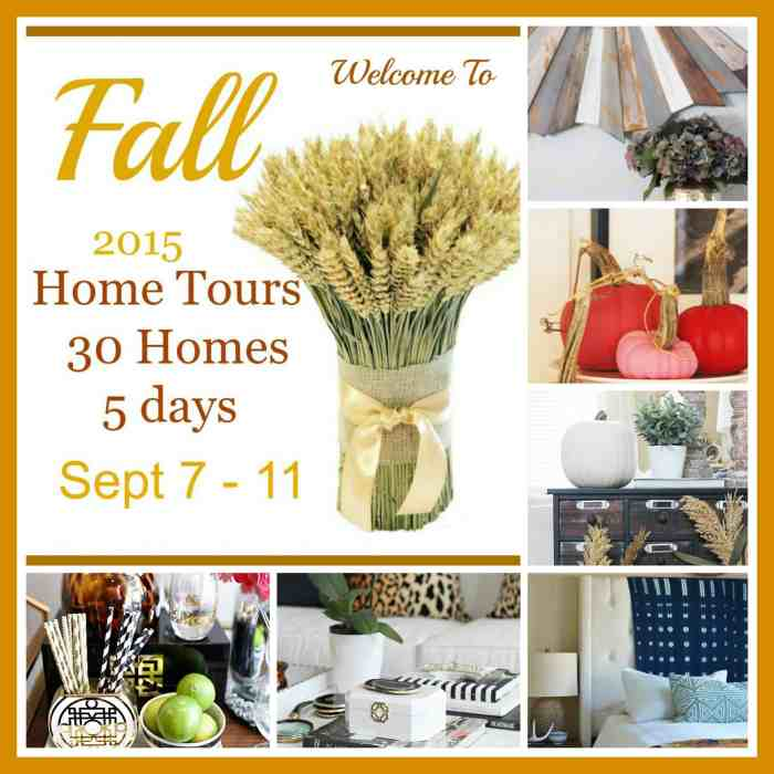 Wednesday 2015 Fall Home Tour