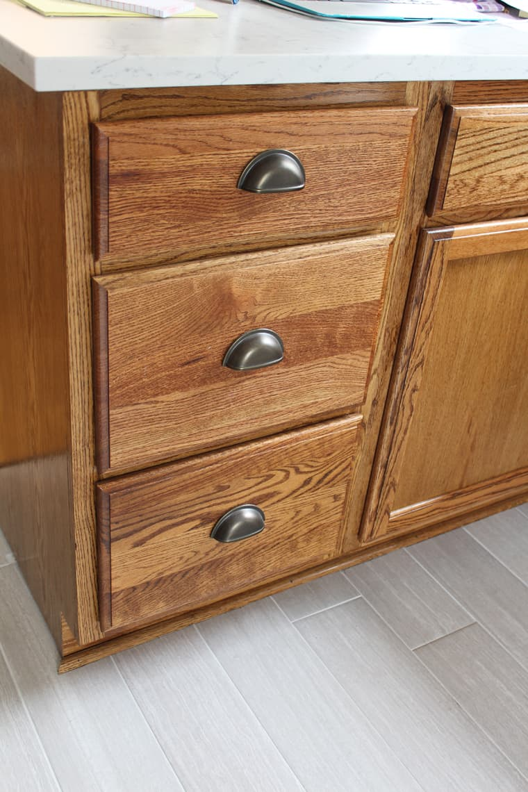 kitchen cabinet stain | Kitchen Renovation: Cabinet Stain and Hardware