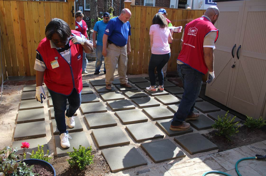 Lowe's Spring Makeover Pavers