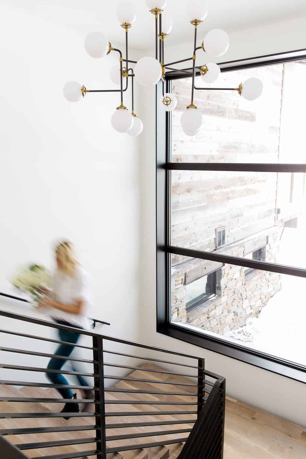 Bold + Modern Chandeliers for Two-Story Foyers