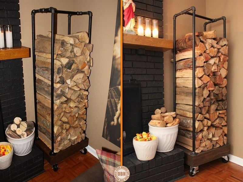 DIY Outdoor Firewood Storage Rack Ideas Vertical