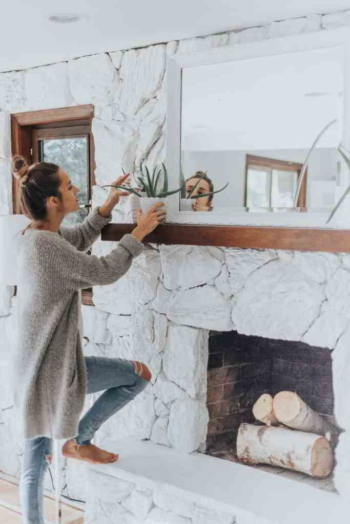 To Paint Or Not To Paint? Stone Tile Fireplace + More bethany