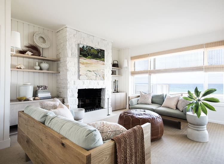 To Paint Or Not To Paint? Stone Tile Fireplace + More coastal