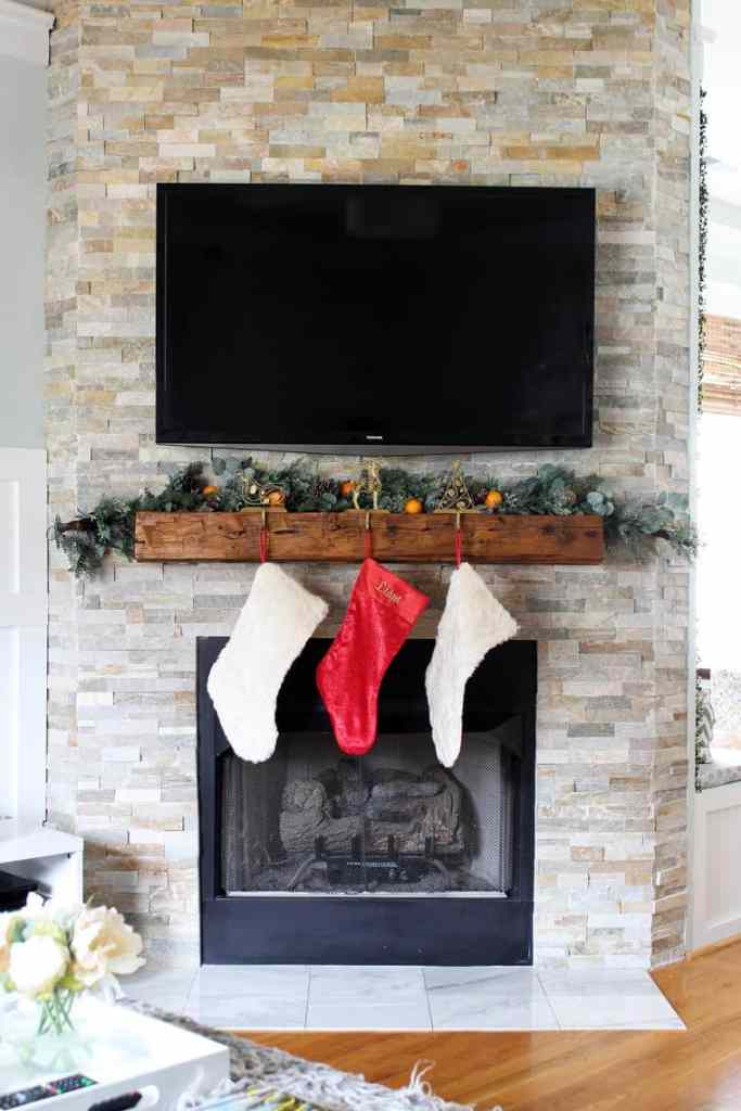 To Paint Or Not To Paint? Stone Tile Fireplace + More our stone