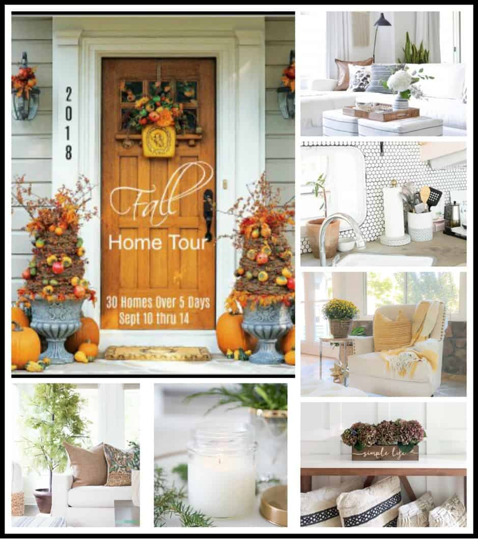 A Simple Fall Home Tour 2018 collage