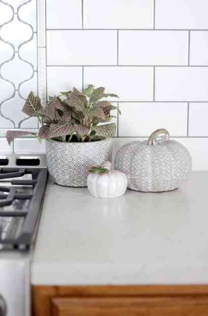 How To Decorate Your Kitchen for Fall + 2 Recipes! pumpkins