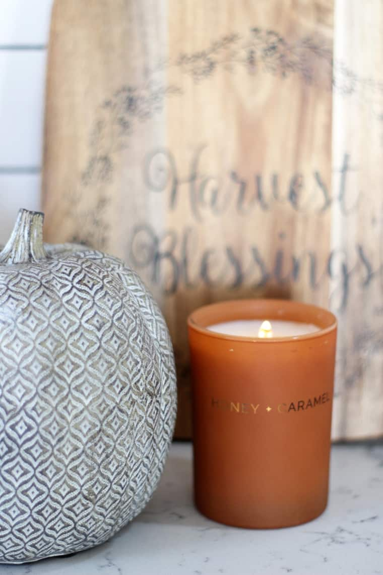 How To Decorate Your Kitchen for Fall + 2 Recipes! candle