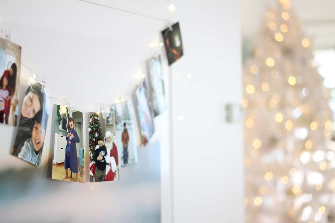 A Gold + Silver Christmas of Lights with At Home family